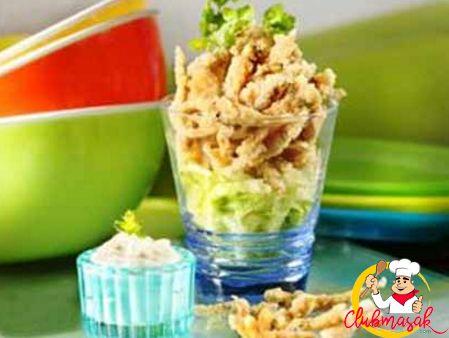 Resep Sajian Dengan Saus Mayones, Teri Goreng Saus Mayo Daun Ketumbar, Masakan Ala Cafe, Club Masak