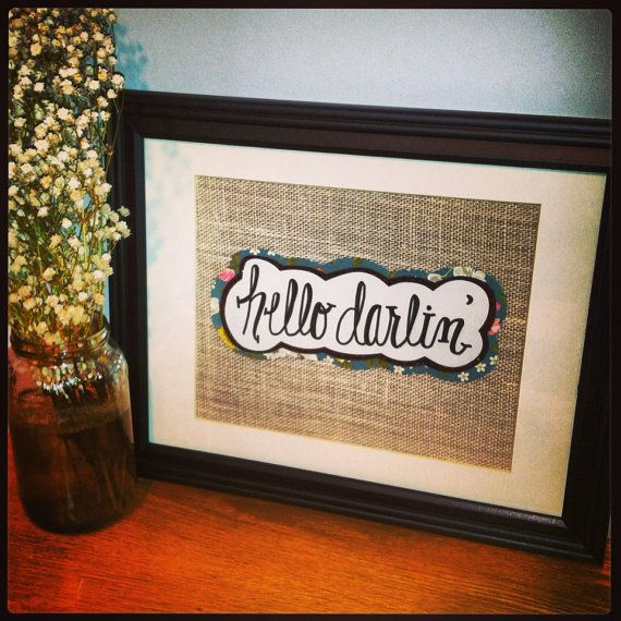 Framed Quote Handwritten Art wHiSkEy by BlairBaileyCPD on Etsy