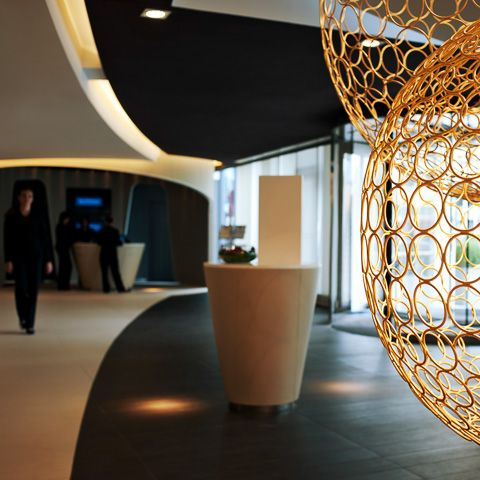 Hôtel Pullman Brussels Midi : LA nouvelle adresse haut de gamme, situé à 2 pas des quais des Thalys, TGV ou Eurostar...© ABACApress/Didier DELMAS