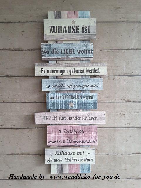 Popular  Zuhause ist auf Brettern mit pers nlichen Namen