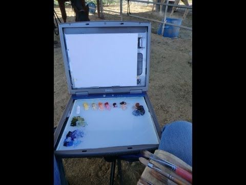 How to Recycle a Laptop to a Plein air box. Easy to make and use!  I paint on location for work that is full of life and light.  Then when I get back to the Studio, I have my photographs and field study to base larger paintings on. #pleinair #upcycle #recycle