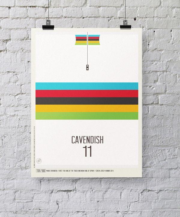 Iconic Cycling Jerseys by Neil Stevens, via Behance