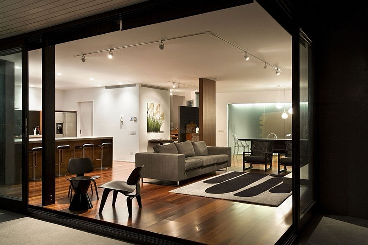 Spacious Open Floor Living Room and Kitchen in the New Zealand Home