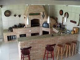 Resultado de imagem para modelos de cozinha gourmet rustica com fogao de lenha