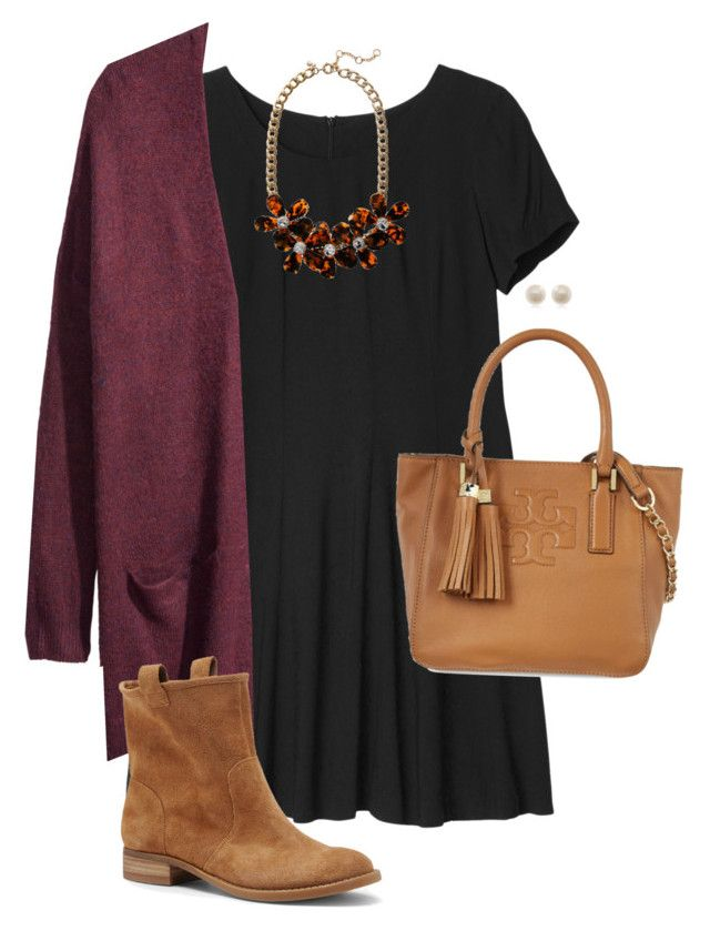 """""""Dressy Dinner"""" by tex-prep ❤ liked on Polyvore featuring Monki, J.Crew, H&M, Sole Society, Tory Burch and Links of London"""