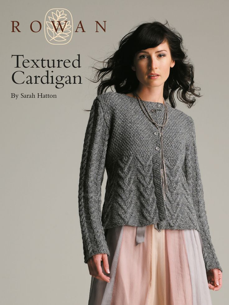 Textured Knitting Patterns : Textured cardigan this shaped cable and moss stitch