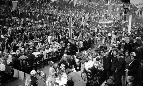 A coronation street party, 1953