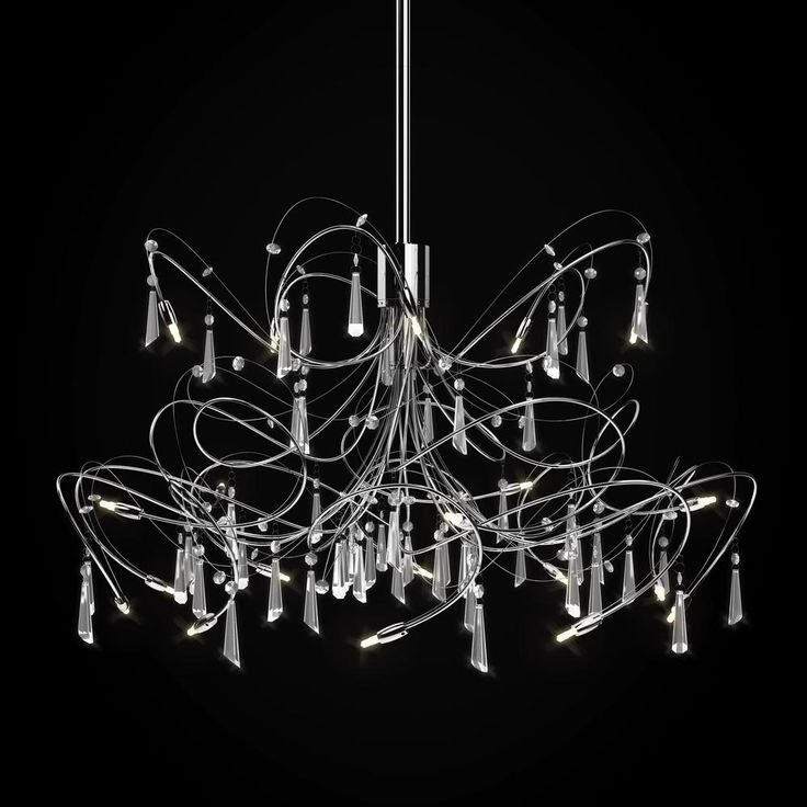 LED Chandelier  Open to above staircase light