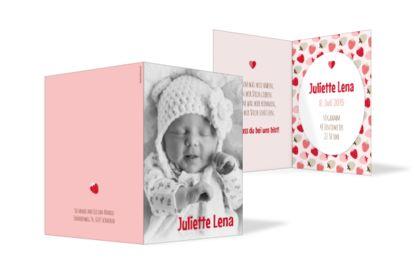 Geburtskarte Juliette