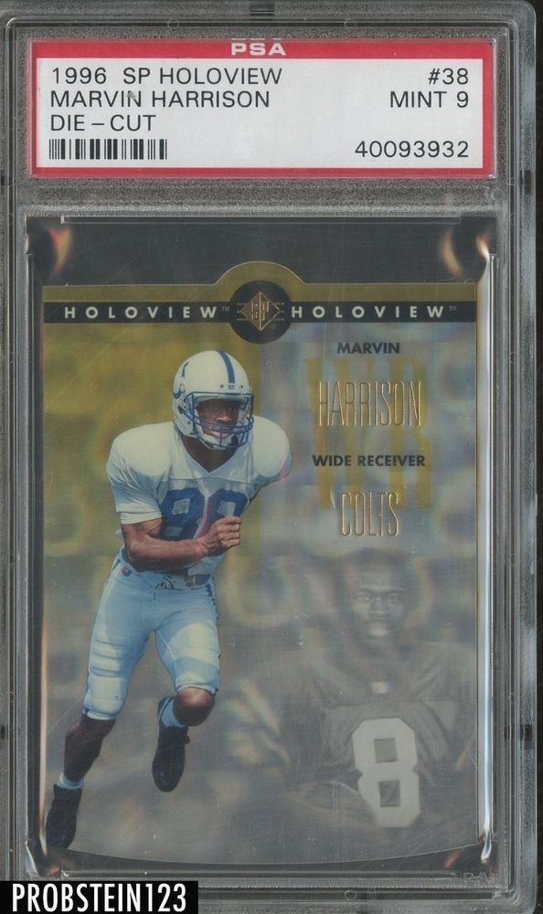 1996 Sp Holoview Die Cut 38 Marvin Harrison Colts Rc Rookie