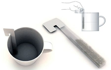 Tea Stick Stirrer. What a functional tea bag! Stir the tea stick to allow for better infusion. Cool peackaging idea!