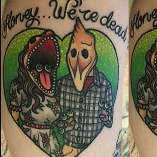 Healed #beetlejuice #tattoo by #eighty6crew member @alex_rowntree