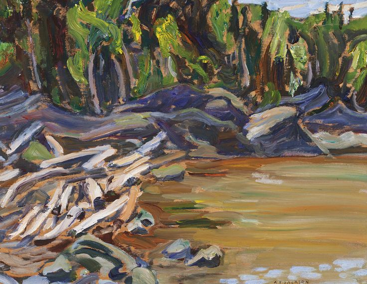 """""""Rose Cove, Wawa, Ont."""" A.Y. Jackson, oil on panel, 10½ x 13½"""", private collection."""