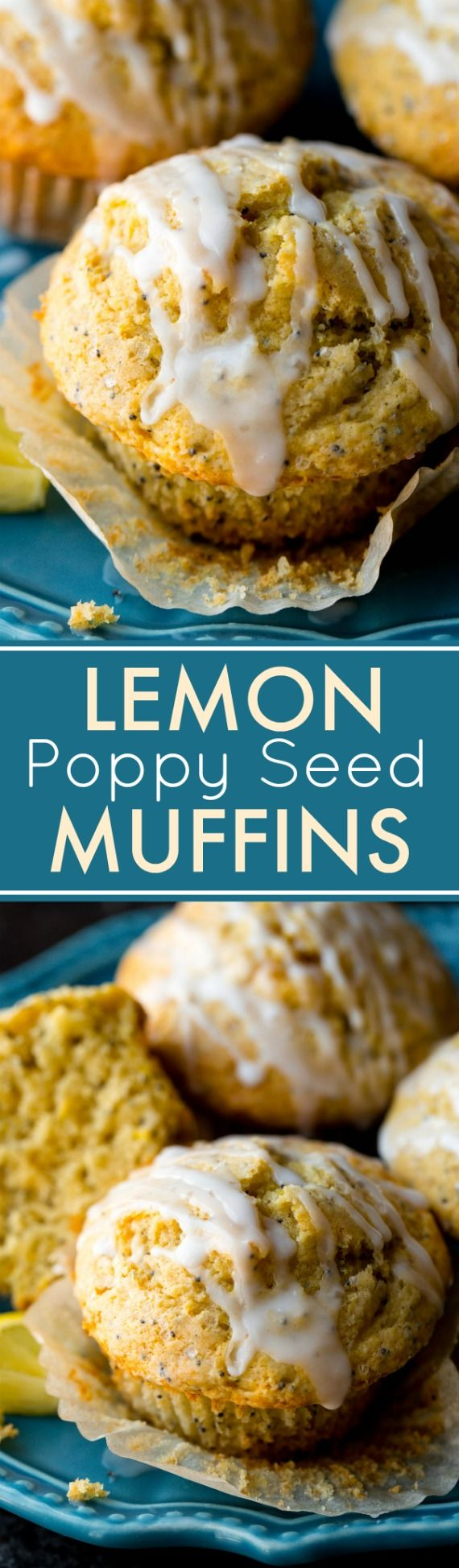 These are my favorite lemon poppy seed muffins! Soft, fluffy, recipe on sallysbakingaddiction.com