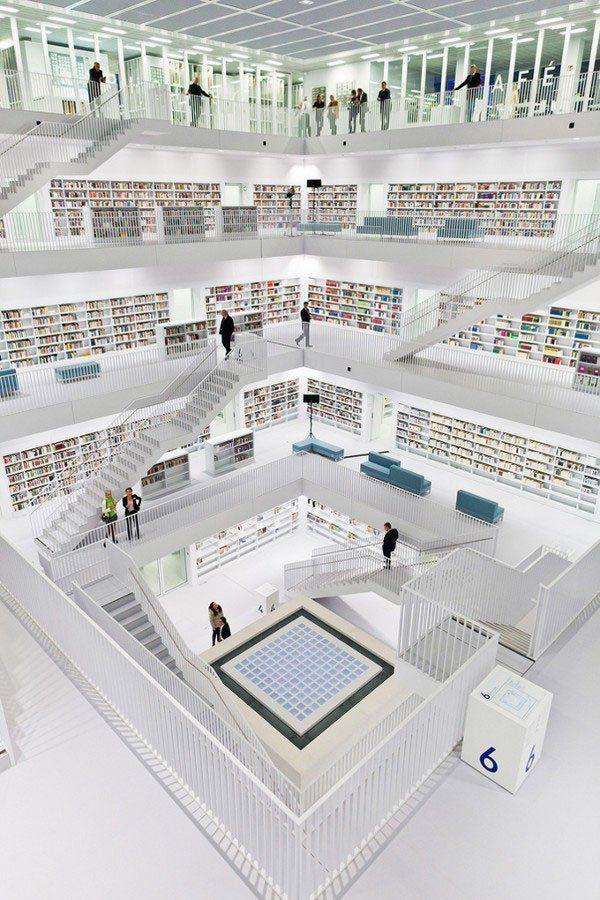 DÜNYANIN EN GÜZEL 40 KÜTÜPHANESİ | Eskimeyen Kitaplar - Stuttgart Şehir Kütüphanesi, Stuttgart, Almanya