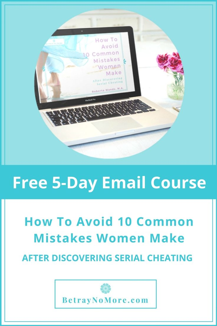 Are You Making Any Of These Mistakes After Discovering His Serial Cheating Or Sex Addiction? Get The Free 5-Day Course And Find Out!