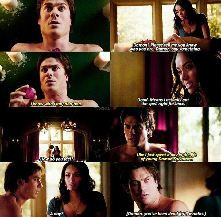#TVD The Vampire Diaries season 7 Damon & Bonnie, spoiler for me.. ;-;