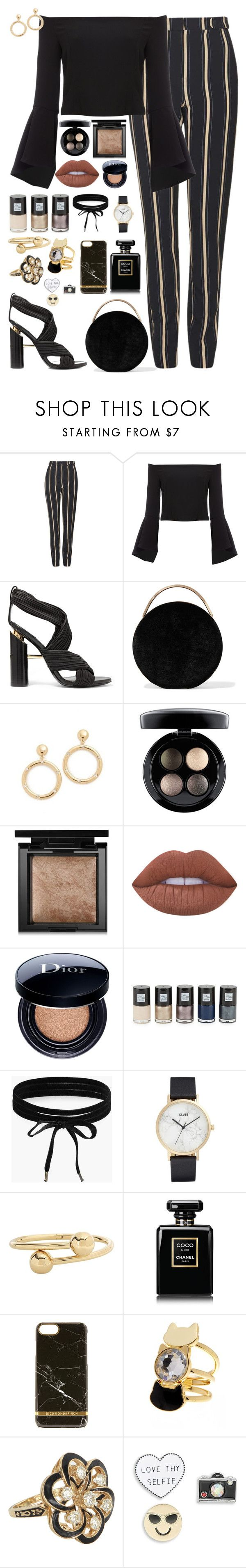 """""""Stripes"""" by fabirm ❤ liked on Polyvore featuring Topshop, Bardot, Tom Ford, Eddie Borgo, Kate Spade, MAC Cosmetics, Bare Escentuals, Lime Crime, Christian Dior and Saks Fifth Avenue"""