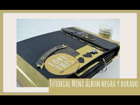 Tiempo y Lugar: Tutorial álbum negro y dorado: el reto al que no llegué.