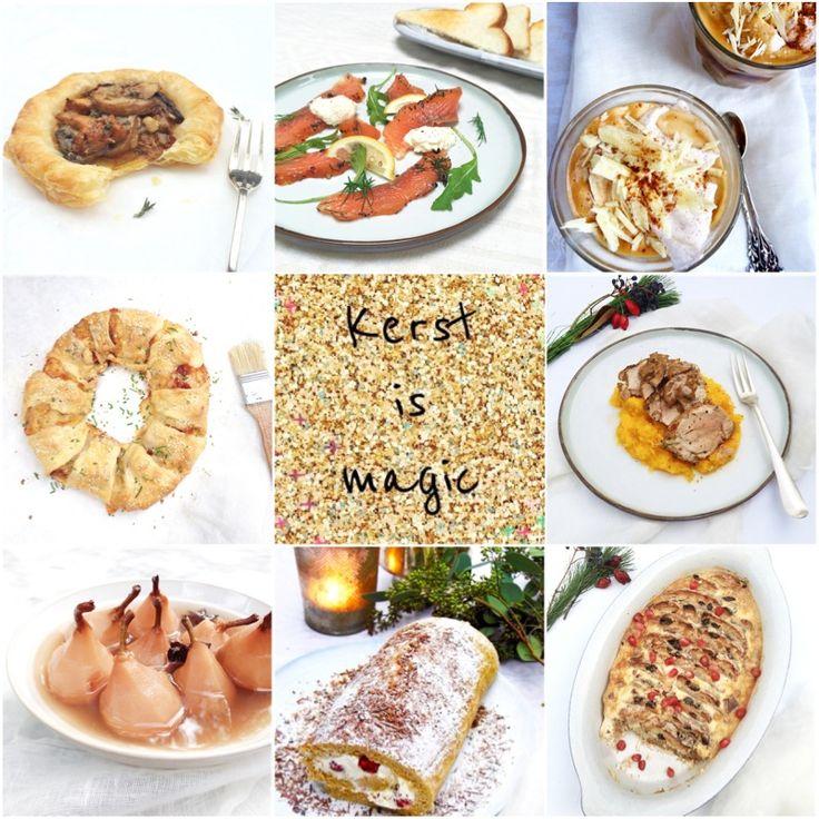60x feestelijke kerst recepten. Van ontbijt, hapjes & lekkers tot aan voor-, hoofd- en nagerechten. Ook veel vegetarische recepten. www.madebyellen.com