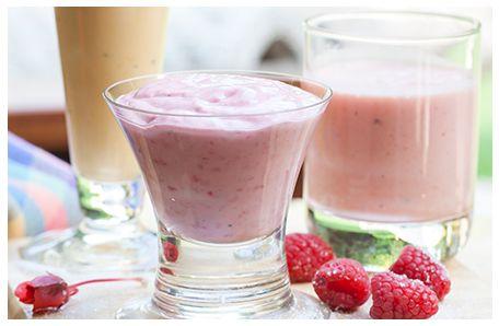 strawberry, raspberry or watermelon smoothies