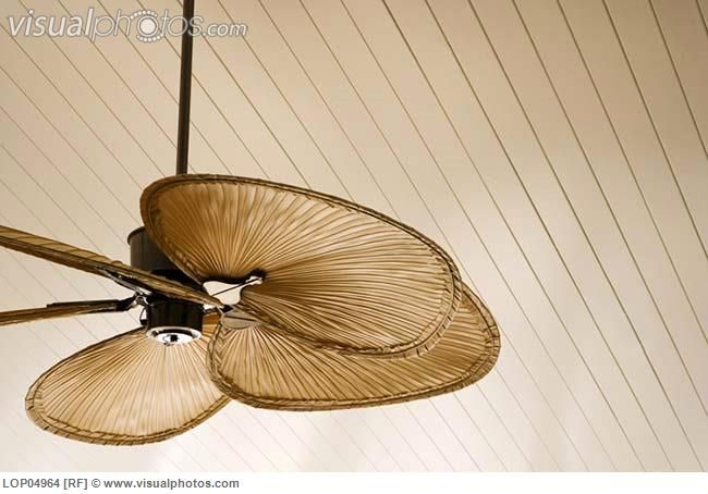 ceiling fan beach   Detail of Beach Style Ceiling Fan [LOP04964] > Stock Photos   Royalty ...