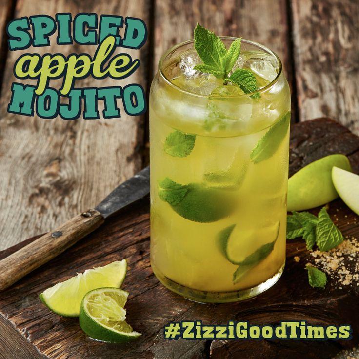 Captain Morgan spiced rum, vodka, mint & lime purée, cloudy apple with fresh mint & squeezed limes. #ZizziGoodTimes