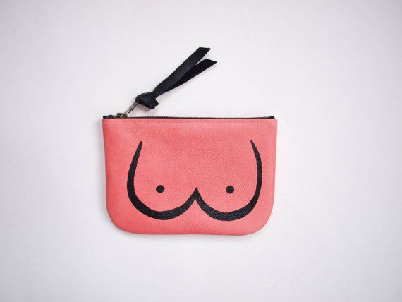 A cheeky little pouch for all your essentials (wink wink). Featuring boobs on one side, bum on the other, this pouch is made from high-quality Italian
