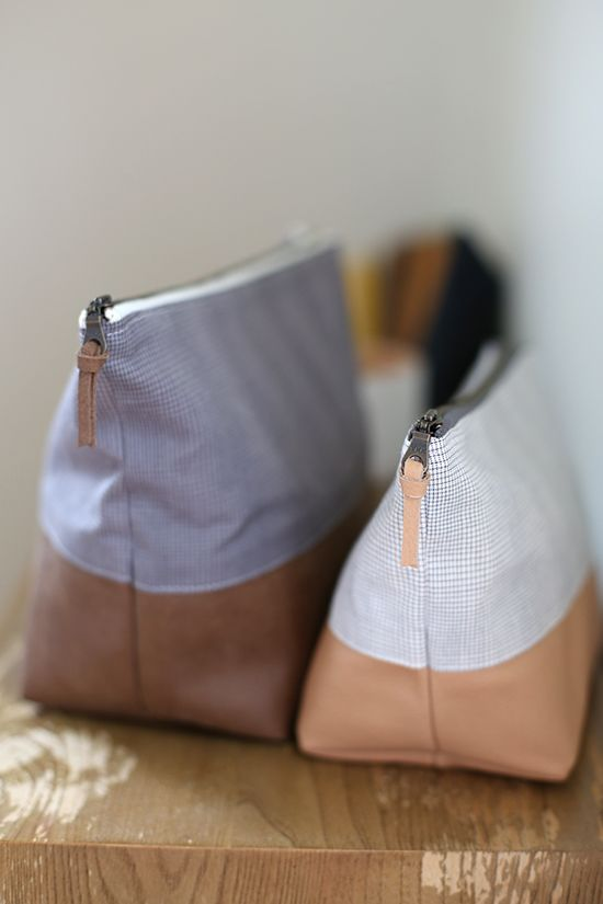 Leather Bottomed Pouches - Noodlehead