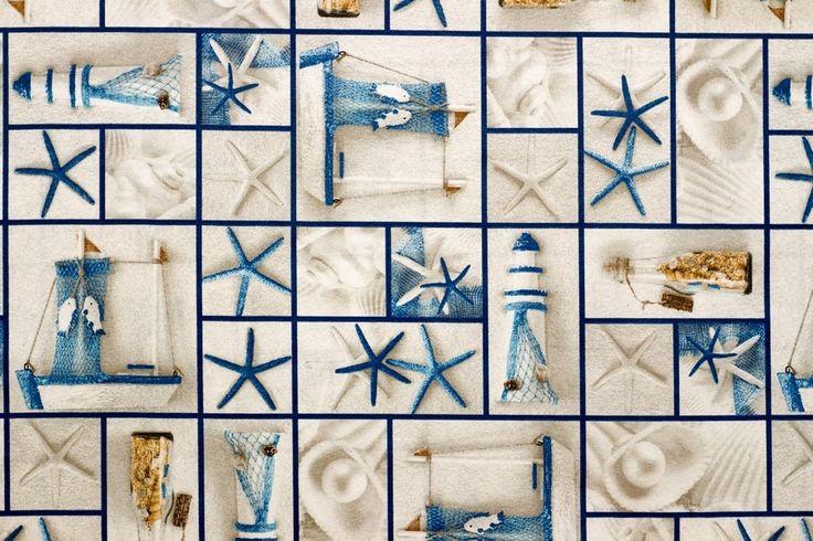 Vidal Tecidos   Produtos   Caracola Azul