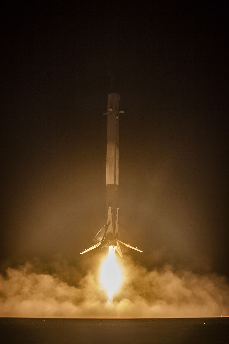 SpaceX landing the first stage of the falcon 9 rocket after ORBCOMM-2 mission