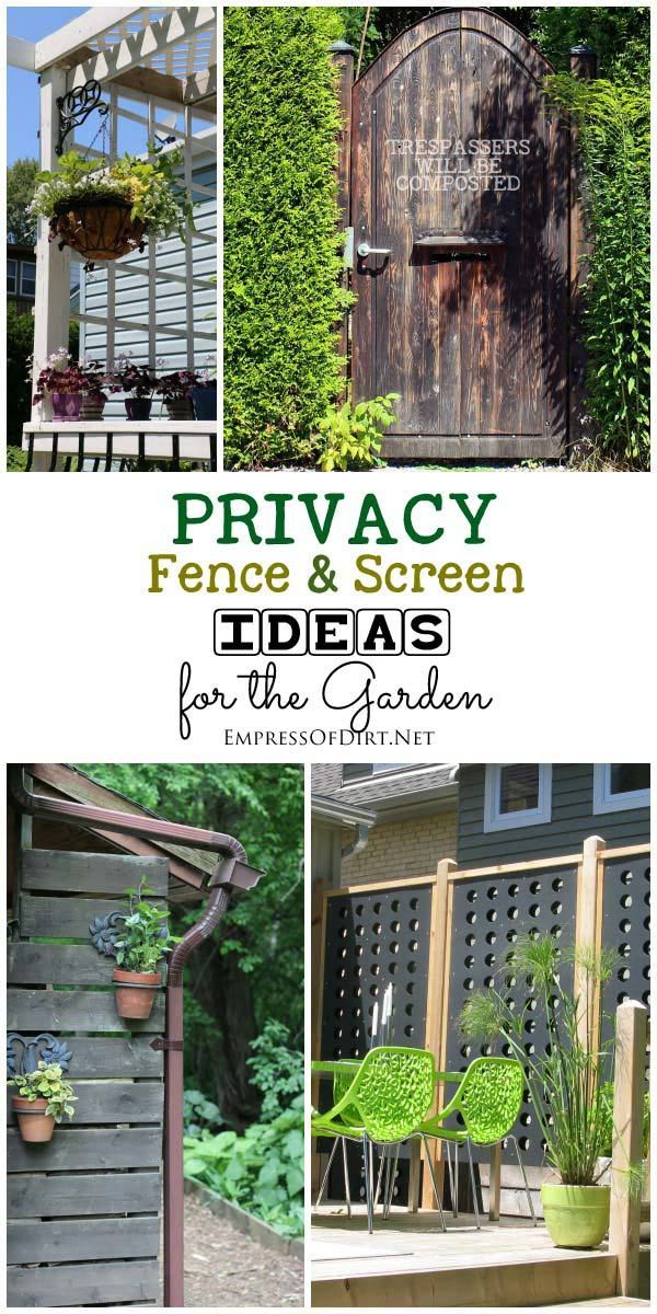 privacy fence screen ideas for the garden