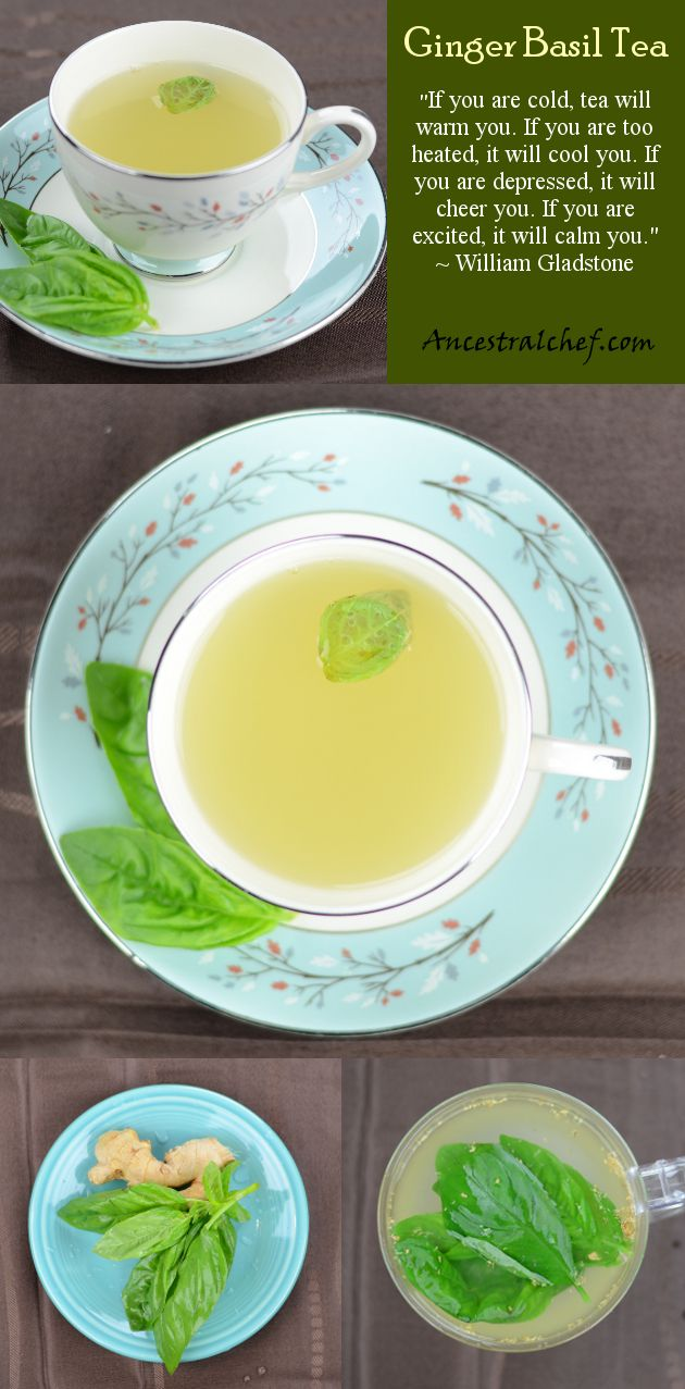 Ginger Basil Tea - Great for Winter http://ancestralchef.com/ginger-basil-tea/