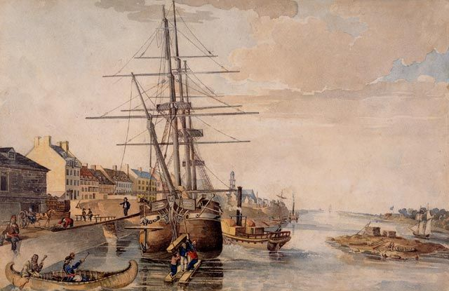 The Port of Montreal, 1830. Dominique and his brothers grew up in the dock section until his father claimed his illegitimate family.