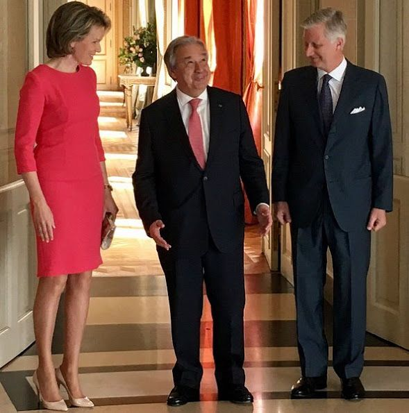 King Philippe and Queen Mathilde welcomed Antonio Guterres