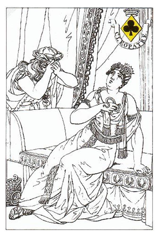 Klaveren Vrouw speelkaart Carta Mundi Louis Atthalin 1815