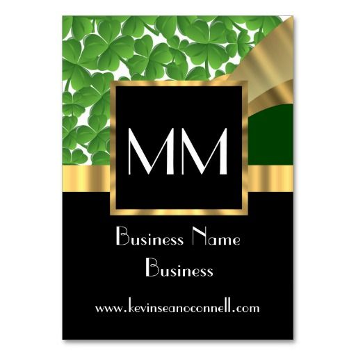 319 best elegant monogram metal business cards images on pinterest black gold and green monogram large business cards pack of 100 reheart Choice Image