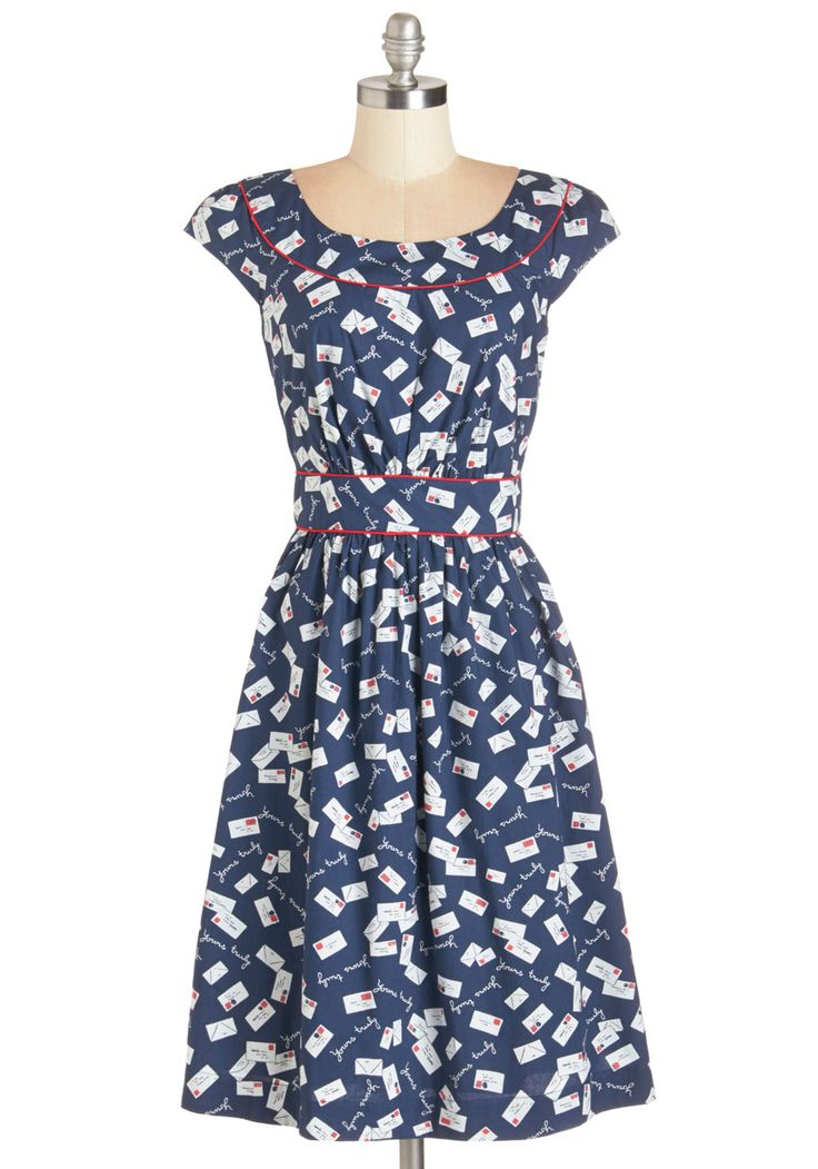 Day After Day Dress in Yours Truly. You can trust that this pocketed dress by hard-to-find British brand Emily and Fin will lift your spirits when you need it! #blue #modcloth