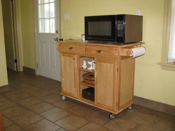 how to build a microwave cart