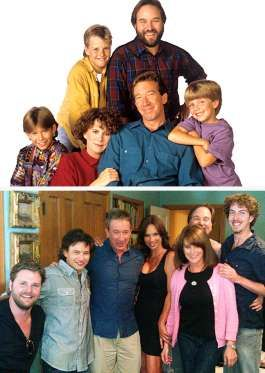 HOME IMPROVEMENT The Taylors quickly became one of America's most beloved TV families in the '90s, thanks to the success of the sitcom Home Improvement. After the show ended, the only cast member to remain largely in the public eye was Tim Allen, but the stars have seemingly stayed in contact, as both Patricia Richardson and Jonathan Taylor Thomas guest starred on Allen's current show, Last Man Standing. In 2011, EW got the cast back together for the reunions issue.