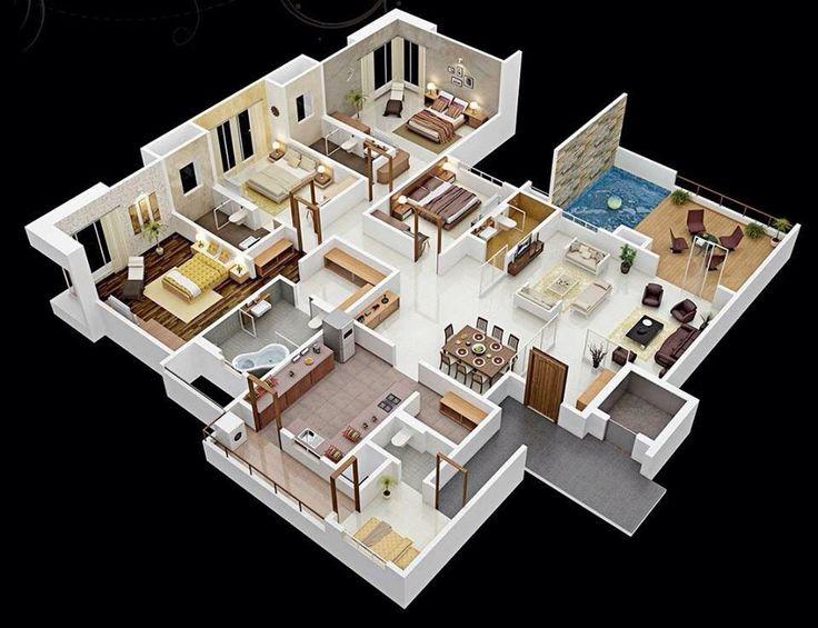 Best Plans Floorplans Drawing House Plano Arquitectonico