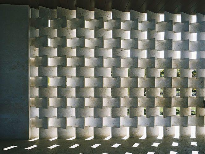Ilusão da parede de pedra