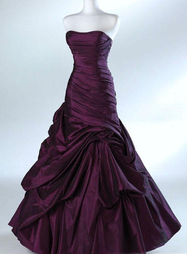 177 best purple wedding gowns images on Pinterest | Wedding frocks ...