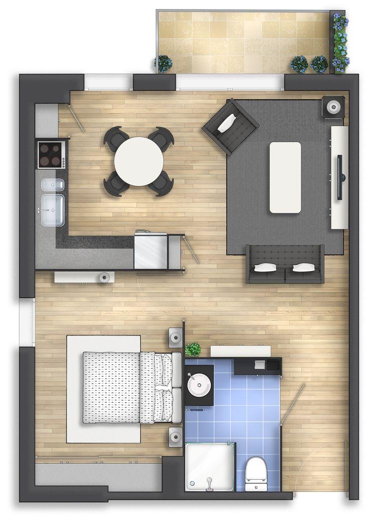 Floor plan rendering for Lymo.fr (France) - by Alberto Talens Fernández