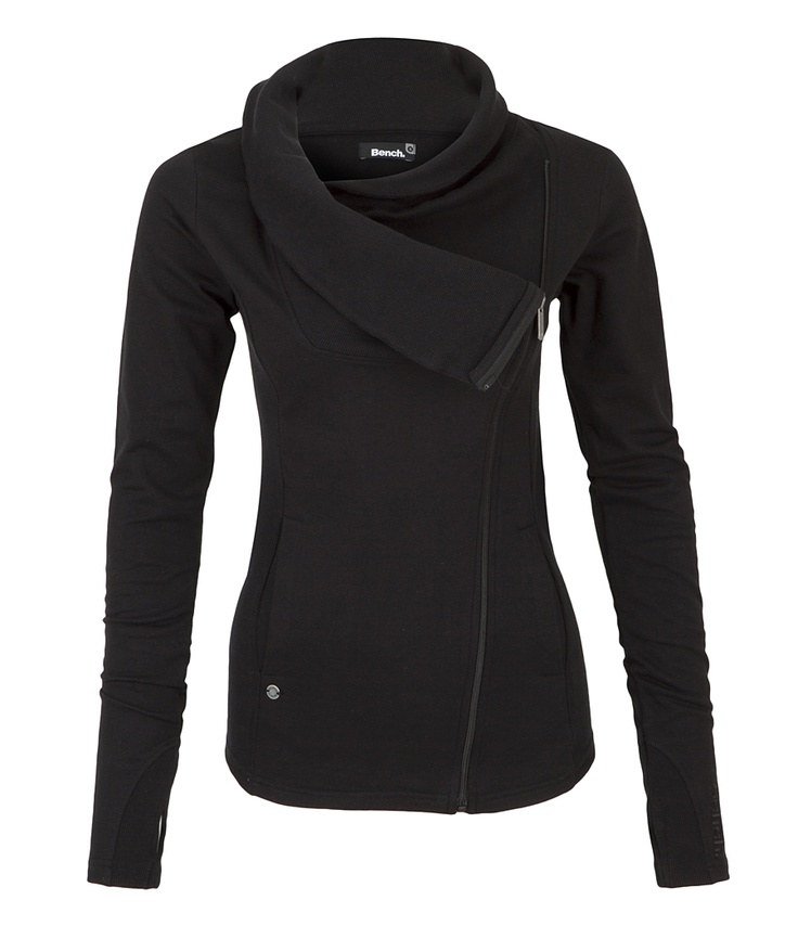 Been waiting to get one of these forever; love angle zippers!  Bench sweater.... love the neck!