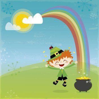 Leyenda irlandesa sobre la historia del tesoro del arcoíris. Leyenda corta europea sobre duendes para niños. La leyenda del duende que custodia un tesoro al final del arcoíris.