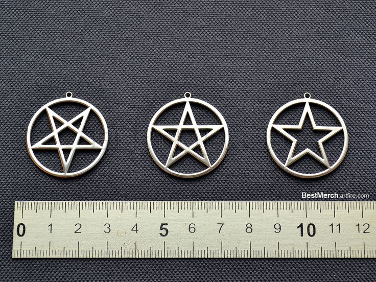 Pentagramm Necklace Stainless Steel Pendant Logo Symbol Merch