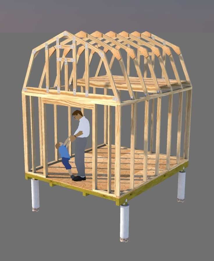From shed floor anchors to framing your shed roof, learn how to build your shed for use as a storage shed, chicken coop, playhouse, shed home, and more!
