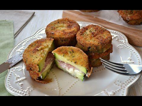 Rollo de calabacín con jamón y queso - YouTube