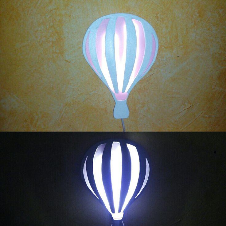 Lámpara quitamiedos, globo aerostático. Taller Regaliz